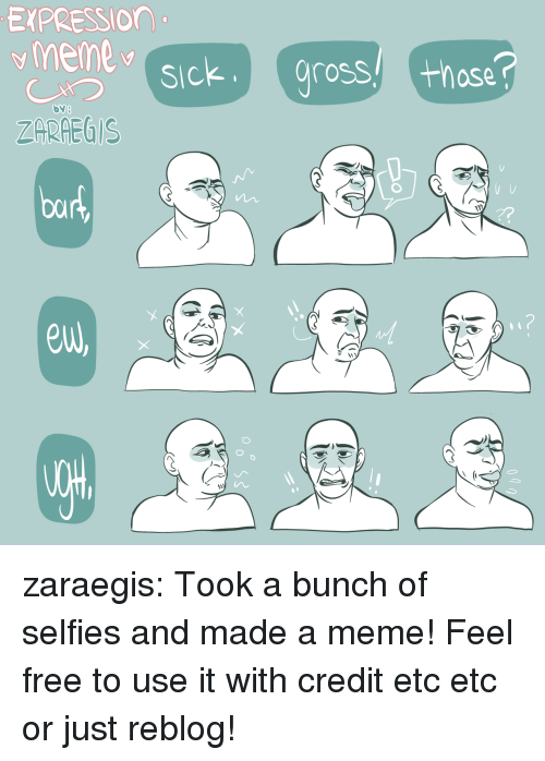 Meme, Target, and Tumblr: EXPRESSIOn  ZARHEGIS  euw zaraegis:  Took a bunch of selfies and made a meme! Feel free to use it with credit etc etc or just reblog!