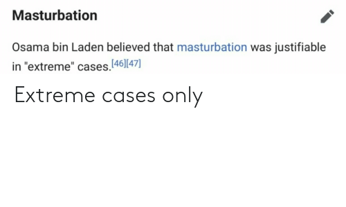 extreme: Extreme cases only