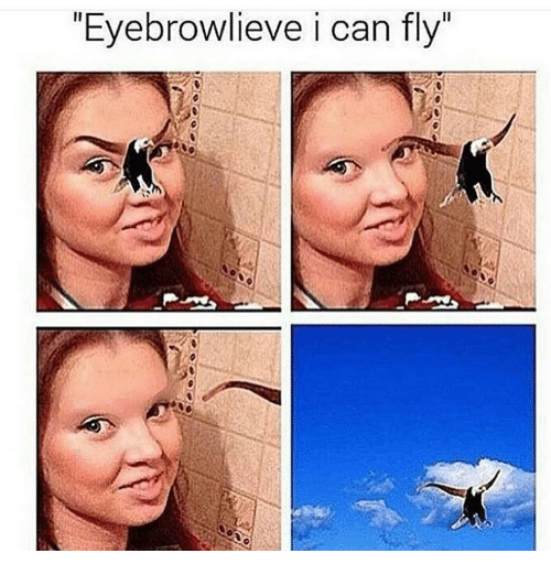 "i can fly: ""Eyebrowlieve i can fly"""