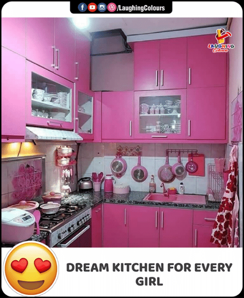 Girl, Indianpeoplefacebook, and Dream: f  LaughingColours  LAUGHING  Colorss  DREAM KITCHEN FOR EVERY  GIRL