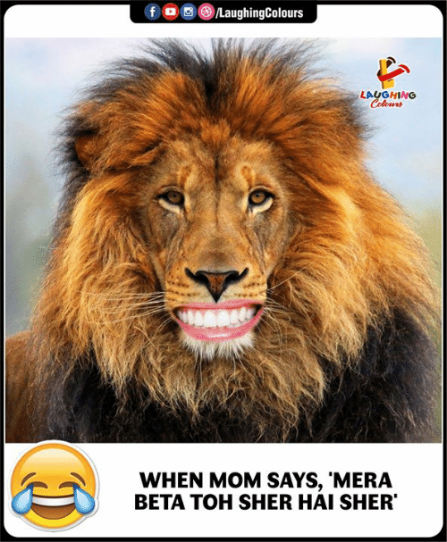 Toh: f LaughingColours  LAUGHING  Colours  WHEN MOM SAYS, 'MERA  BETA TOH SHER HAI SHER