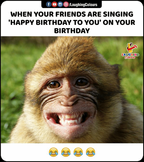 Laughing Colours: f /LaughingColours  WHEN YOUR FRIENDS ARE SINGING  'HAPPY BIRTHDAY TO YOU' ON YOUR  BIRTHDAY  LAUGHING  Colours