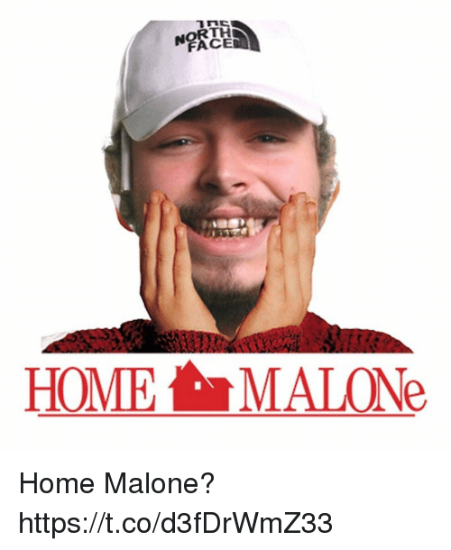 Memes, Home, and 🤖: FACE  HOME MALONe Home Malone? https://t.co/d3fDrWmZ33