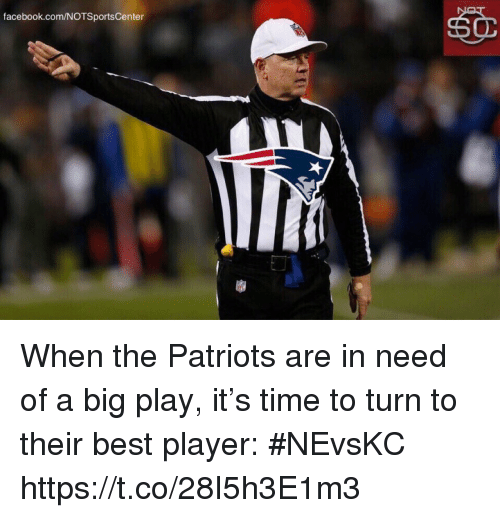 Facebook, Patriotic, and Sports: facebook.com/NOTSportsCenter When the Patriots are in need of a big play, it's time to turn to their best player: #NEvsKC https://t.co/28I5h3E1m3
