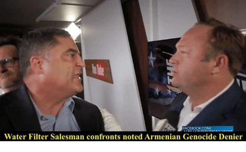 FACEBOOK COM Water Filter Salesman Confronts Noted Armenian Genocide