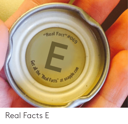 "Facts, Reddit, and The Real: Fact""#069  al  the Real  Facts"" at snap Real Facts E"