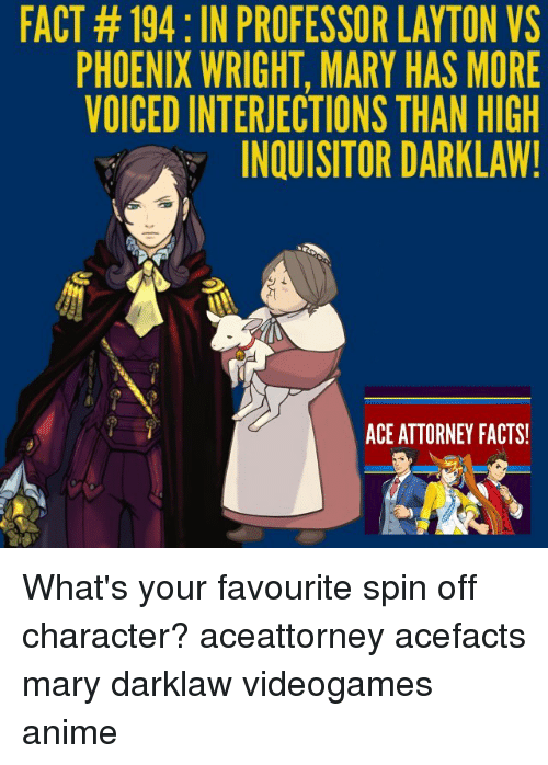 Fact 194 In Professor Layton Vs Phoenix Wright Mary Has More