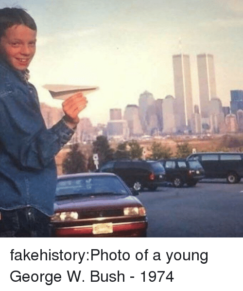 George W. Bush: fakehistory:Photo of a young George W. Bush - 1974