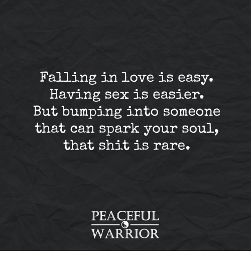 Sex and falling in love