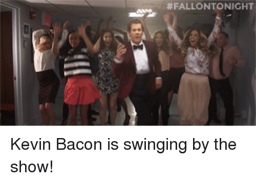 Kevin Bacon:  # FALLO NTO NIC HT <p>Kevin Bacon is swinging by the show!</p>