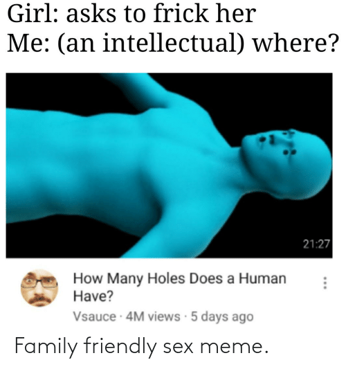 Sex Meme: Family friendly sex meme.