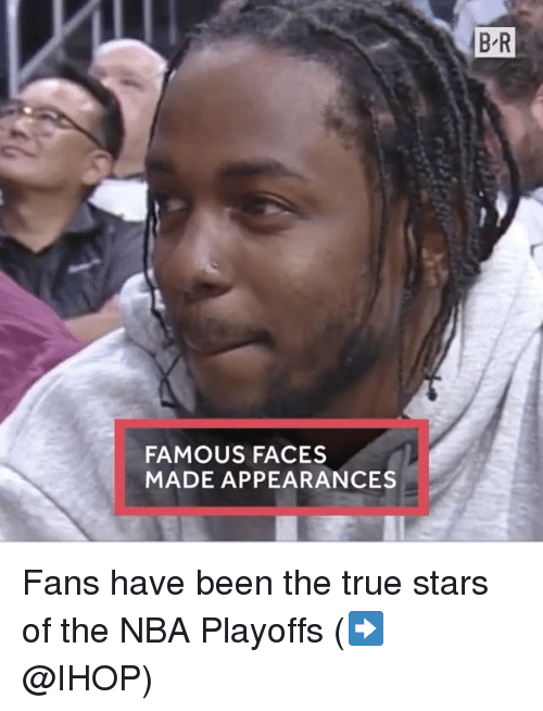 Ihop, Nba, and Sports: FAMOUS FACES  MADE APPEARANCES  BR Fans have been the true stars of the NBA Playoffs (➡️ @IHOP)