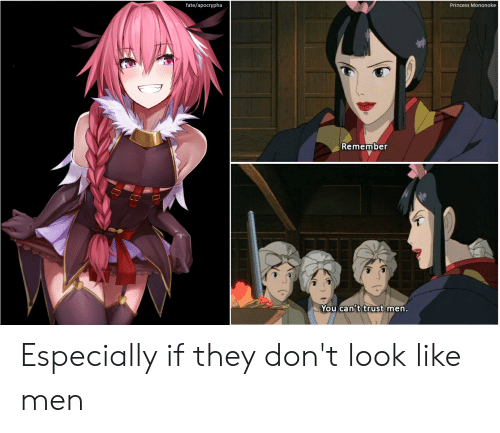 Fate Apocrypha: fate/apocrypha  Princess Mononoke  Remember  UwU  You can't trust men. Especially if they don't look like men