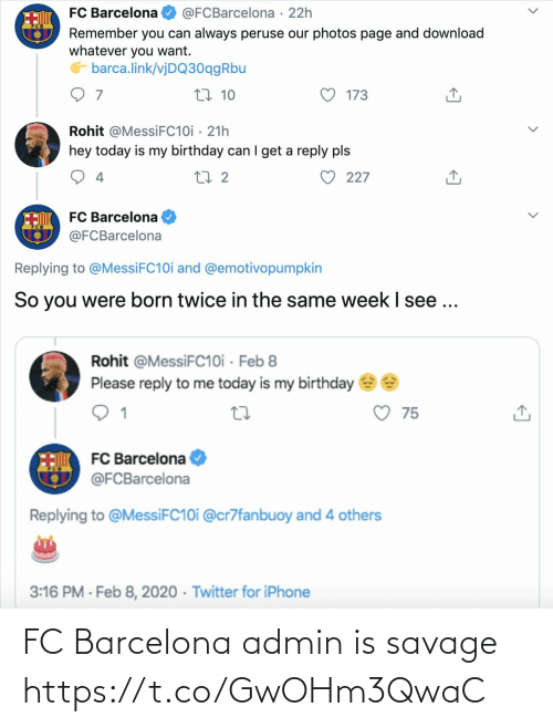 Admin: FC Barcelona admin is savage https://t.co/GwOHm3QwaC