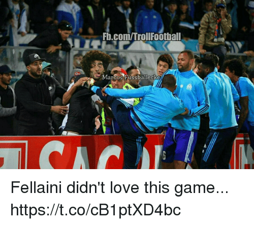 fellaini: FD.com/TrollFootball  Marcos Fussballecke Fellaini didn't love this game... https://t.co/cB1ptXD4bc