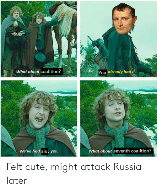 Felt: Felt cute, might attack Russia later