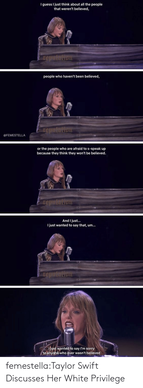 White Privilege: femestella:Taylor Swift Discusses Her White Privilege