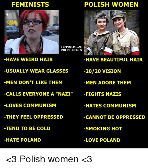 Feminists Polish Women Fbipolemical Polish Memes Have Weird Hair