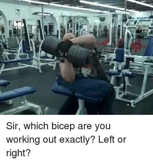 Fetli: FET . Sir, which bicep are you working out exactly? Left or right?