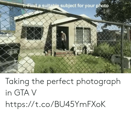 Gta V, Gta, and Photo: FFind a suitable subject for your photo Taking the perfect photograph in GTA V https://t.co/BU45YmFXoK