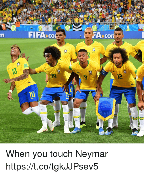 Fifa, Memes, and Neymar: FIFA co  9  12  MAURICE  ANBERKE When you touch Neymar https://t.co/tgkJJPsev5
