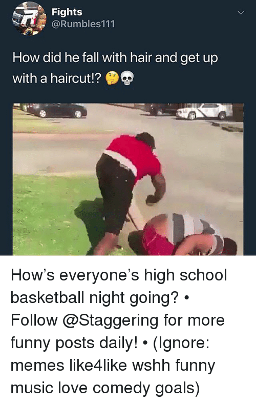 Fights How Did He Fall With Hair and Get Up With a Haircut