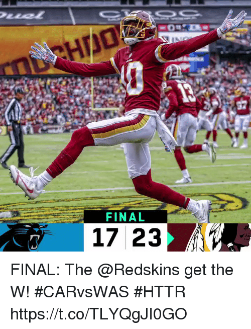 Memes, Washington Redskins, and 🤖: FINAL  17 23 FINAL: The @Redskins get the W! #CARvsWAS #HTTR https://t.co/TLYQgJI0GO