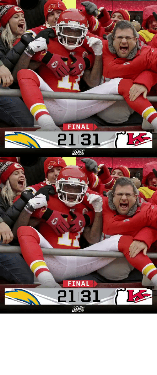 final: FINAL  2131   FINAL  ΓΚ  2131 FINAL: @PatrickMahomes and the @Chiefs clinch a first-round bye! #LACvsKC https://t.co/W2k7ZZQnOX