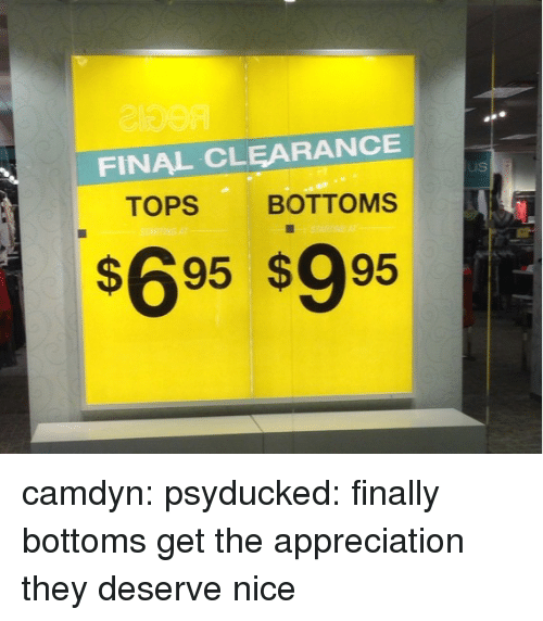clearance: FINAL CLEARANCE  TOPS BOTTOMS  s695 s995 camdyn:  psyducked:  finally bottoms get the appreciation they deserve  nice