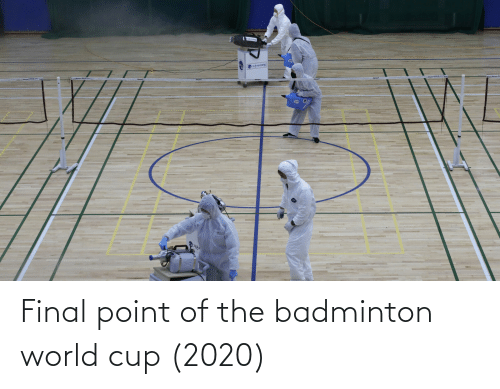 World Cup: Final point of the badminton world cup (2020)