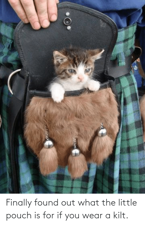 Found: Finally found out what the little pouch is for if you wear a kilt.