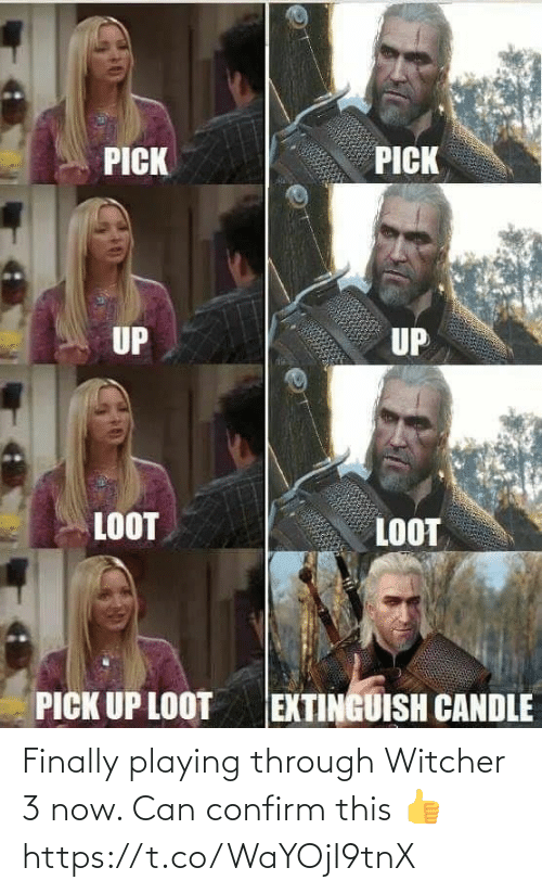 playing: Finally playing through Witcher 3 now. Can confirm this 👍 https://t.co/WaYOjI9tnX