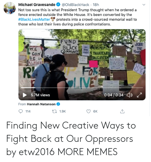 Fight: Finding New Creative Ways to Fight Back at Our Oppressors by etw2016 MORE MEMES