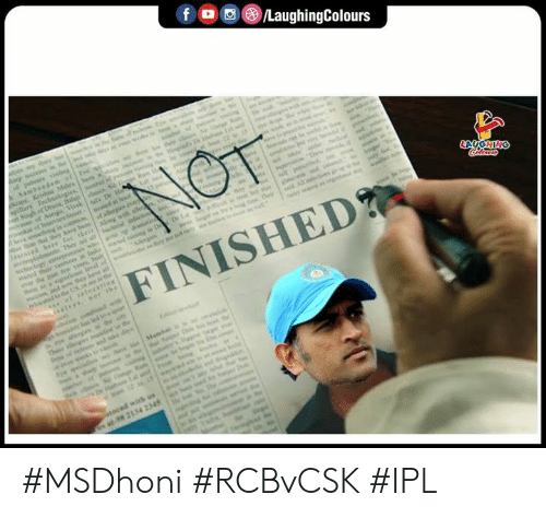 Indianpeoplefacebook, Ipl, and Finished: FINISHED #MSDhoni #RCBvCSK #IPL