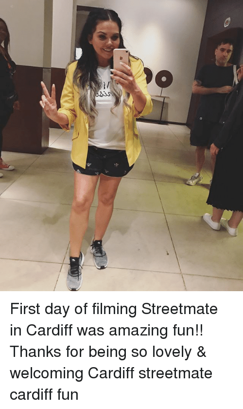 Memes, Amazing, and 🤖: First day of filming Streetmate in Cardiff was amazing fun!! Thanks for being so lovely & welcoming Cardiff streetmate cardiff fun