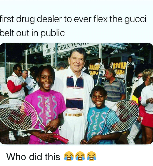 Gucci Belt: first drug dealer to ever flex the gucci  belt out in public Who did this 😂😂😂