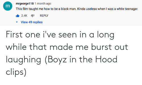 Hood: First one i've seen in a long while that made me burst out laughing (Boyz in the Hood clips)