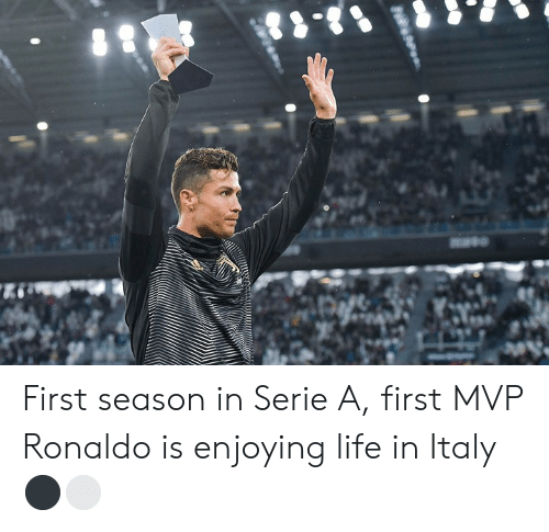 serie a: First season in Serie A, first MVP  Ronaldo is enjoying life in Italy ⚫️⚪️