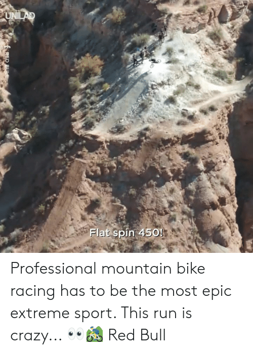 Crazy, Dank, and Red Bull: Flat spin 450! Professional mountain bike racing has to be the most epic extreme sport. This run is crazy... 👀🚵‍♂️  Red Bull
