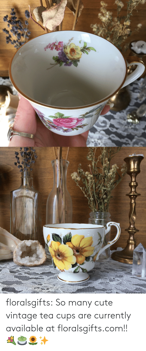 So Many: floralsgifts:  So many cute vintage tea cups are currently available at floralsgifts.com!! 💐🍵🌻✨