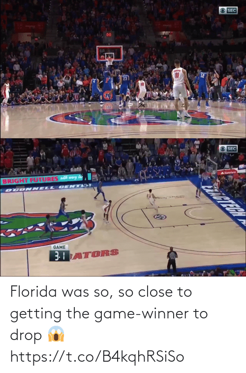 Game Winner: Florida was so, so close to getting the game-winner to drop 😱 https://t.co/B4kqhRSiSo