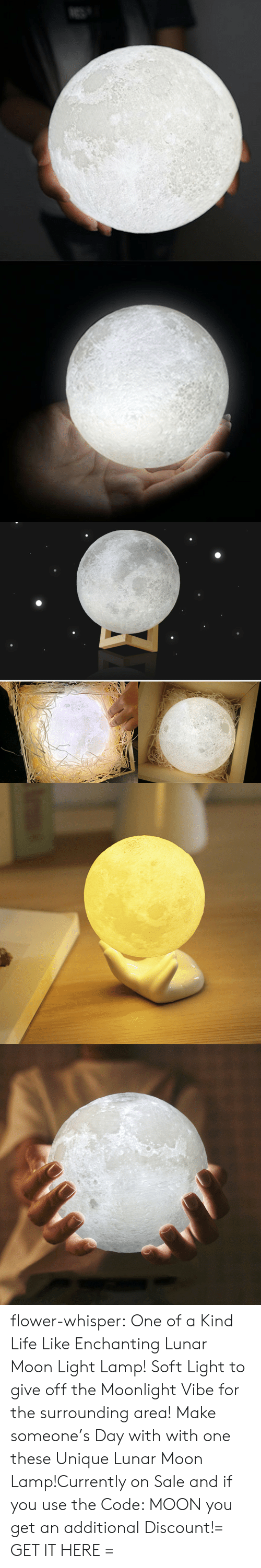 Mooning You: flower-whisper:  One of a Kind Life Like Enchanting Lunar Moon Light Lamp! Soft Light to give off the Moonlight Vibe for the surrounding area! Make someone's Day with with one these Unique Lunar Moon Lamp!Currently on Sale and if you use the Code: MOON you get an additional Discount!= GET IT HERE =