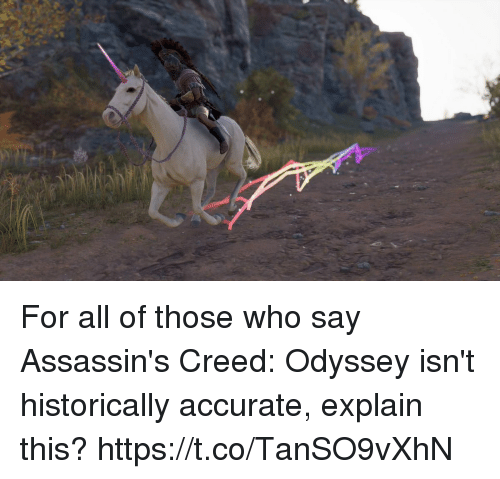 Assassin's Creed: For all of those who say Assassin's Creed: Odyssey isn't historically accurate, explain this? https://t.co/TanSO9vXhN