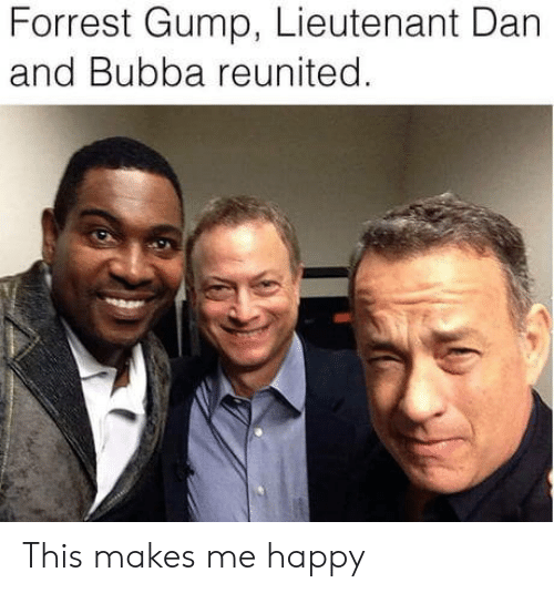 Forrest Gump: Forrest Gump, Lieutenant Dan  and Bubba reunited This makes me happy