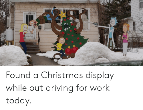 Christmas, Driving, and Funny: Found a Christmas display while out driving for work today.