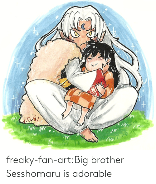 big: freaky-fan-art:Big brother Sesshomaru is adorable