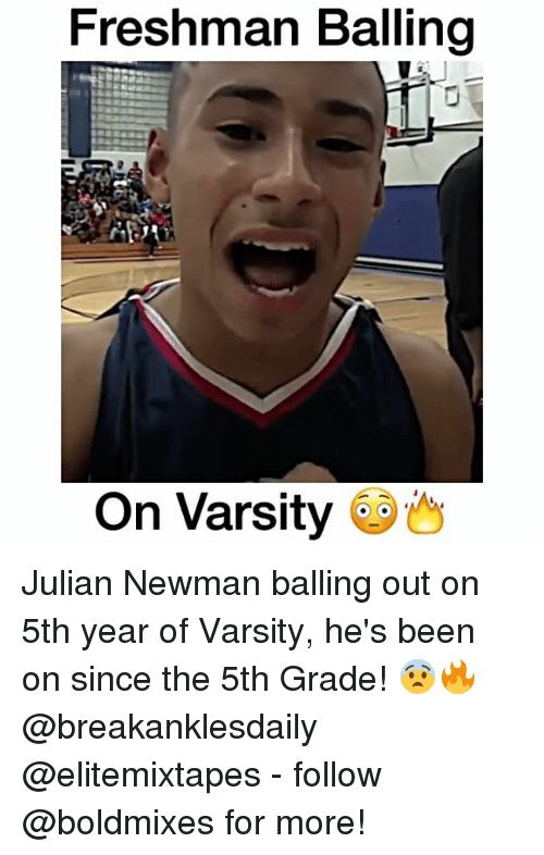 Newman: Freshman Balling  On Varsity Julian Newman balling out on 5th year of Varsity, he's been on since the 5th Grade! 😨🔥 @breakanklesdaily @elitemixtapes - follow @boldmixes for more!