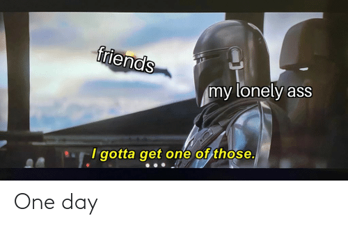 Ass, Friends, and Dank Memes: friends  my lonely ass  I gotta get one of those. One day