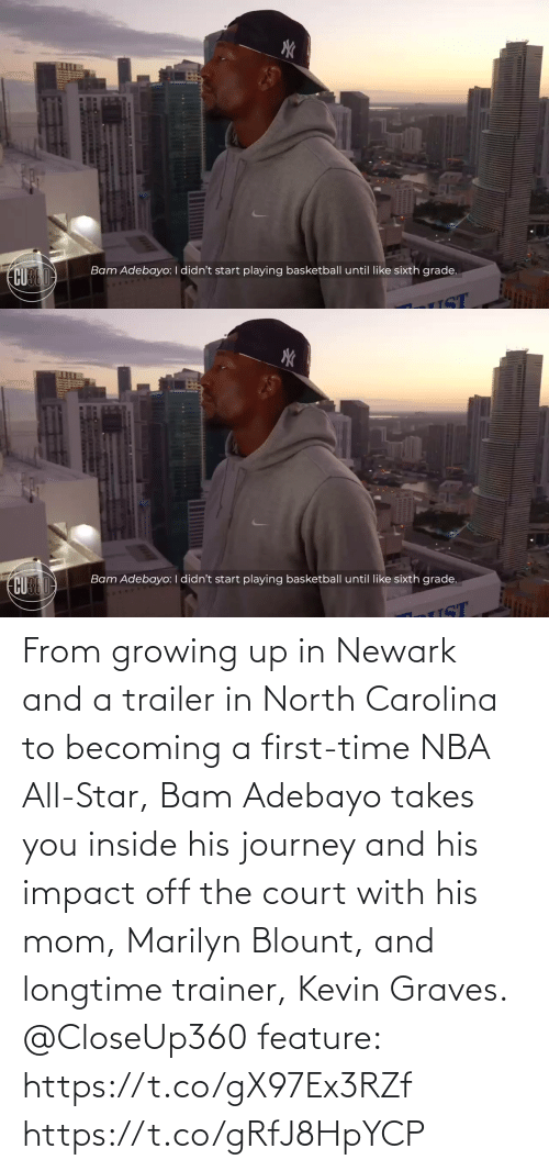 impact: From growing up in Newark and a trailer in North Carolina to becoming a first-time NBA All-Star, Bam Adebayo takes you inside his journey and his impact off the court with his mom, Marilyn Blount, and longtime trainer, Kevin Graves.  @CloseUp360 feature: https://t.co/gX97Ex3RZf https://t.co/gRfJ8HpYCP