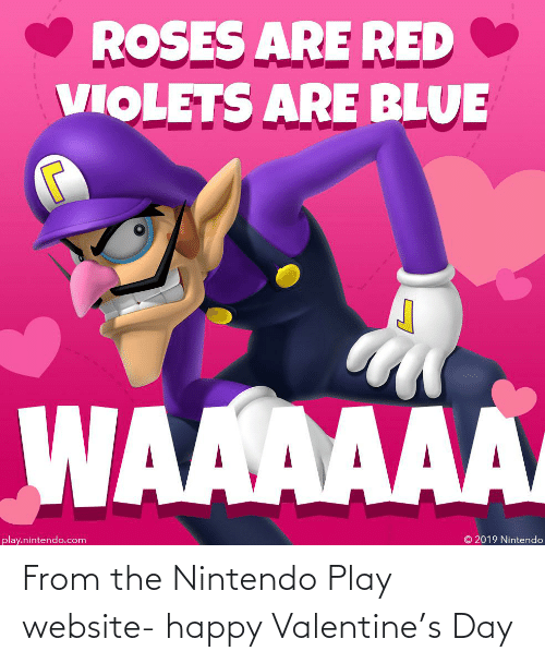 Nintendo: From the Nintendo Play website- happy Valentine's Day